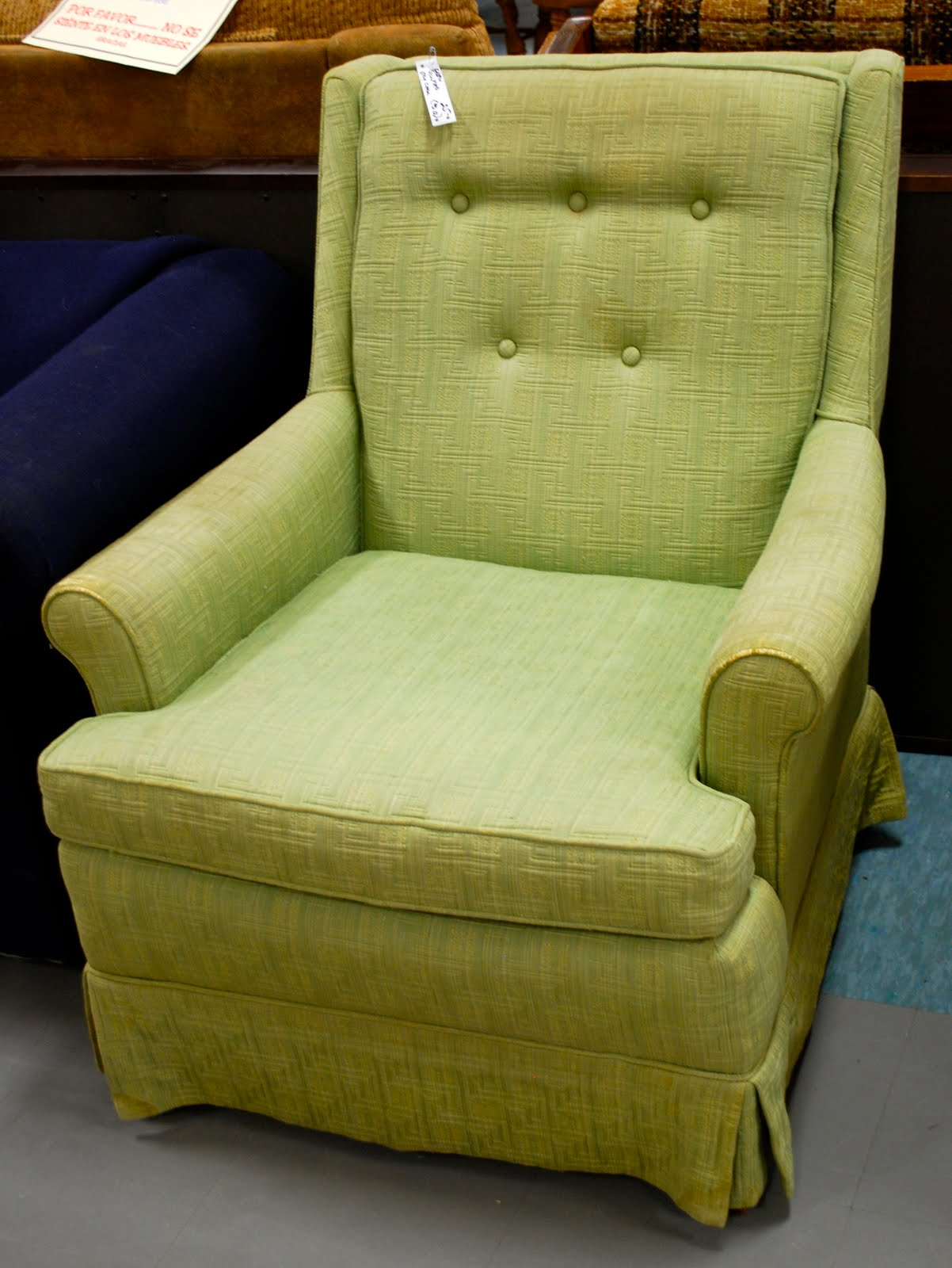 How Cute Would This Little Green Monster Be All Slipped In Canvas White  With A Pleated Skirt? I Can Picture It Now!