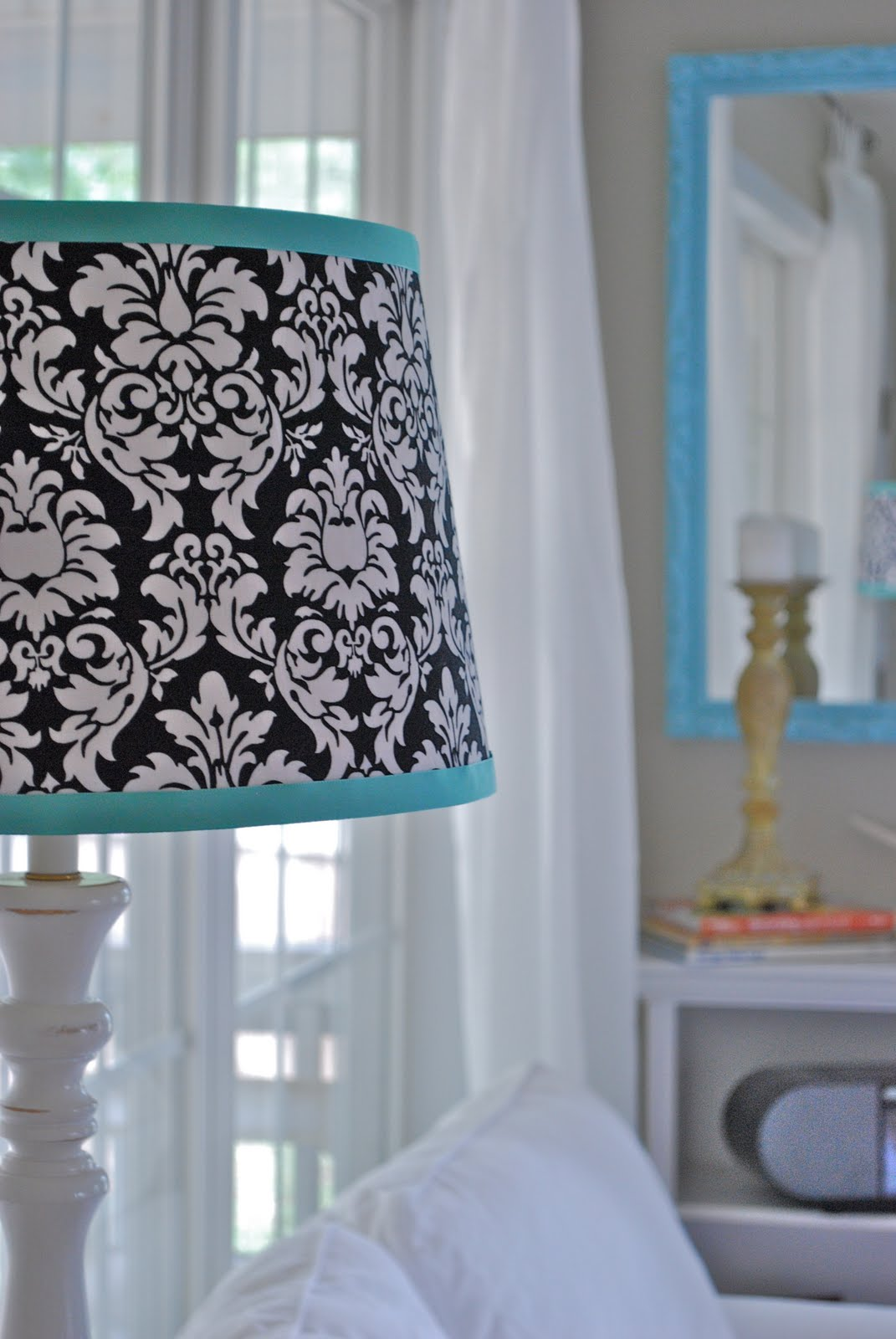 Pink & Polka Dot – Lamp Shade Re-do